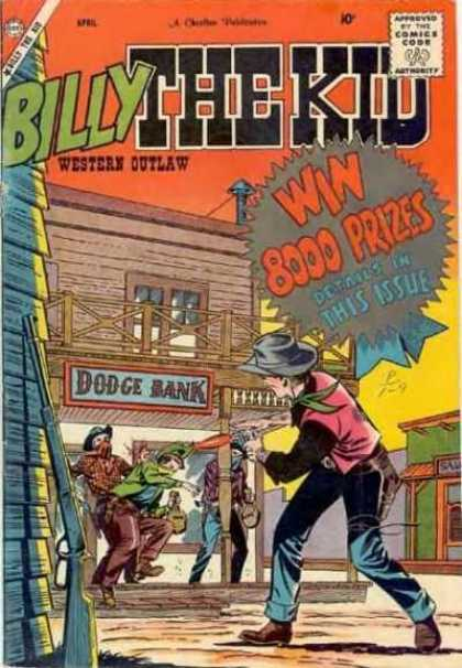 Billy the Kid 16 - Western Outlaw - Dodge Bank - Cowboy - Gun - Western Town