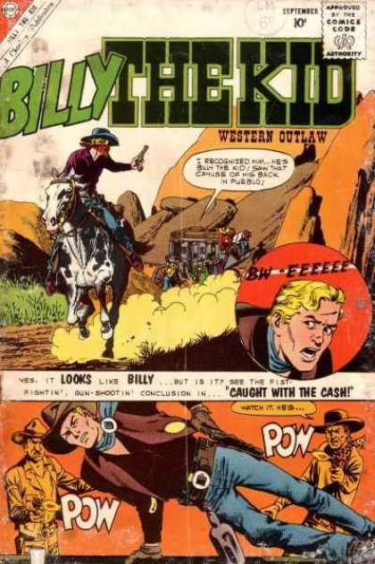Billy the Kid 24 - Western Outlaw - Horse - Stagecoach - Gunfire - Comics Code