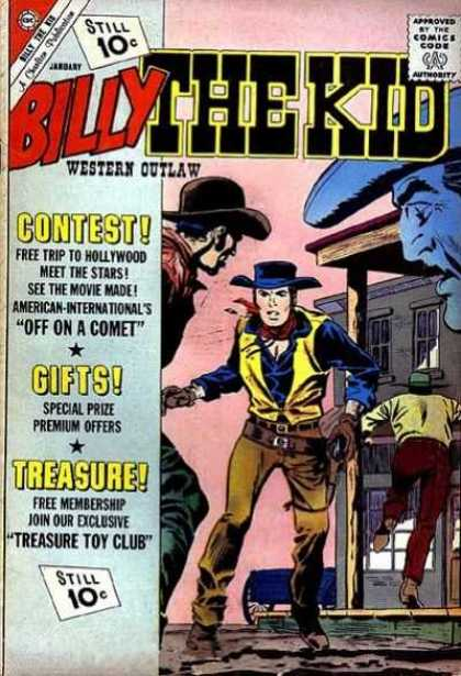 Billy the Kid 32 - Cowboy - Western Outlaw - Comics Code Authority - 10 Cents - Men