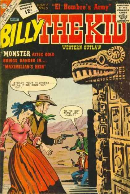 Billy the Kid 35 - El Hombre Army - Western Outlaw - Cowboys - Guns - Comics Code