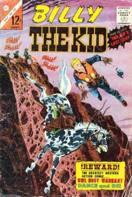 Billy the Kid 51 - 12c - Comics Code A - Reward - Dance - The Greatest Western Action Comic