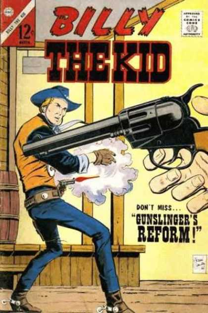 Billy the Kid 60 - Gun - Cowboy - Shooting - Gunslingers Reform - Comics Code