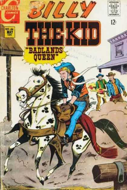 Billy the Kid 66 - Approved By The Comics Code - Charlton Comics - Barlands Queen - Horse - Dust