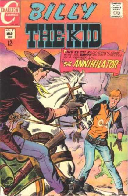 Billy the Kid 71 - Horse - Cowboy - Hat - Pistol - Shooting