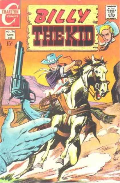 Billy the Kid 74 - Charlton Comics - Cowboy - Horse - Pistol - Desert