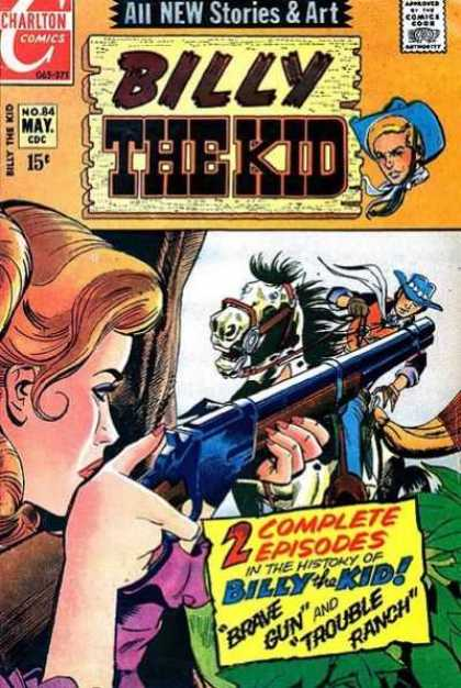 Billy the Kid 84 - Brave Gun - Trouble Ranch - Charlton Comics - May No 84