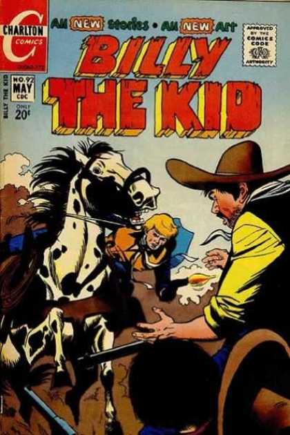 Billy the Kid 92 - Cowboys - Shooting Revolver - Rifle - Cowbow Hat - Riding A Horse