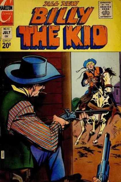Billy the Kid 93 - Cowboy - All New - Yellow - Horse - Shootout