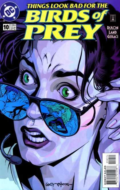 Birds of Prey 10 - Sunglasses - Black Hair - Green Eyes - Muscled Man - Blonde Girl - Brian Stelfreeze