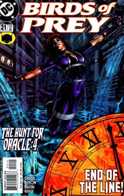 Birds of Prey 21 - The Hunt For Oracle4 - End Of The Line - Clock - Chuck Dixon - Butch Guice