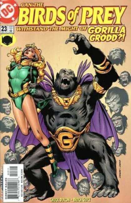 Birds of Prey 23 - Gorilla Grodd - G Belt Buckle - Withstand The Might - Chuck Dixon - Butch Grich - Drew Geraci