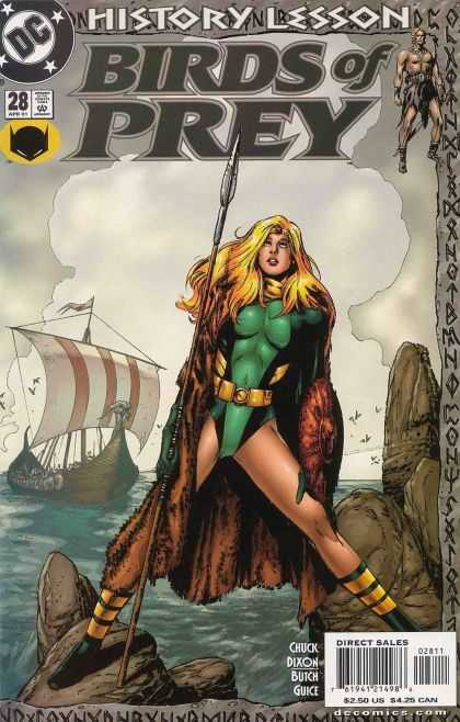 Birds of Prey 28 - History Lesson - Black Canary - Chuck Dixon - Butch Guice - Vikingship