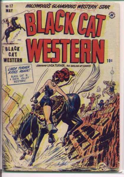 Black Cat 17 - Ride My Pony - Black Cat Western - The Redheaded Cowgirl - Riding The Beast - Tossed