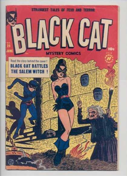 Black Cat 29 - Mystery Comics - The Salem Witch - Masks - Skull - Torch