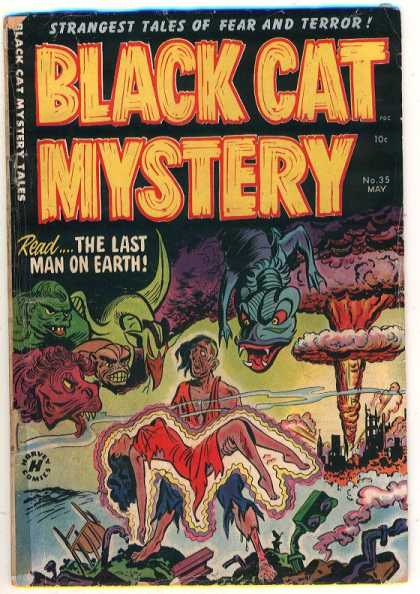 Black Cat 35 - Mystery - Strangest Tales - Beasts - Creatures - Explosion