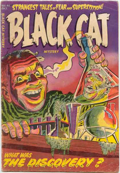 Black Cat 46 - Strangest Tales Of Fear - Discovery - Laboratory - Scientist - Flask