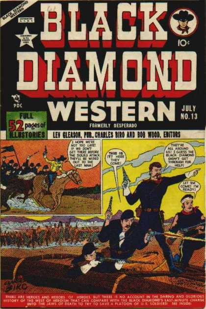 Black Diamond Western 13 - Cowboys - Indians - Horses - Guns - Soldiers