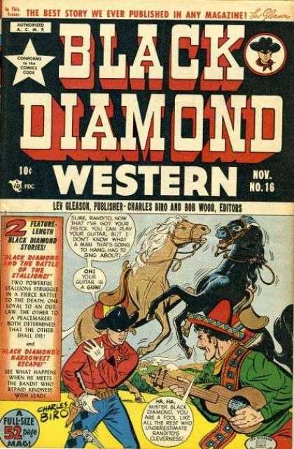 Black Diamond Western 16 - Horses - Cowboy - Guitar - Mexican - Black Diamond And The Battle Of The Stallions