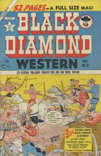 Black Diamond Western 21 - Cap - 52 Pages - Arrow - Bird - A Full Size Mag
