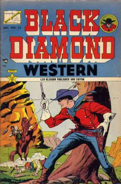 Black Diamond Western 53 - Blue Hat - Pistol - Blue Scarf - Red Shirt - Close Call With A Bullet