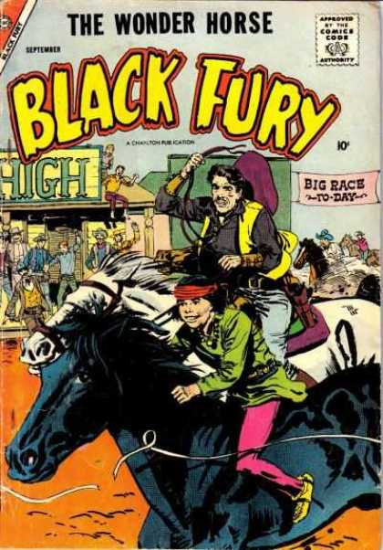 Black Fury 15 - Approved By The Comics Code - The Wonder Horse - Man - Hat - Big Race