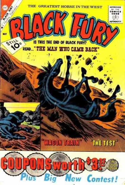 Black Fury 30 - Horse - Rocks - The Man Who Came Back - Black Fury - Comics Code