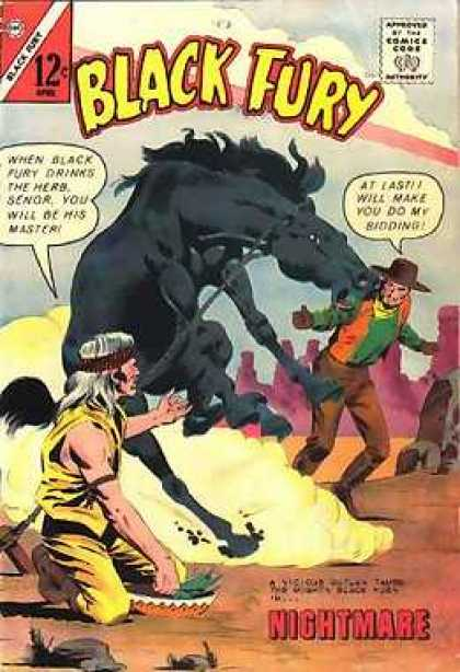 Black Fury 41 - Nightmare - Approved By The Comics Code - Cap - Horse - At Last Will Make You Do My Sidding