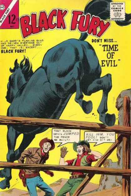 Black Fury 47 - Time Of Evil - Horse - Wooden Rails - Cowboys - Mountains
