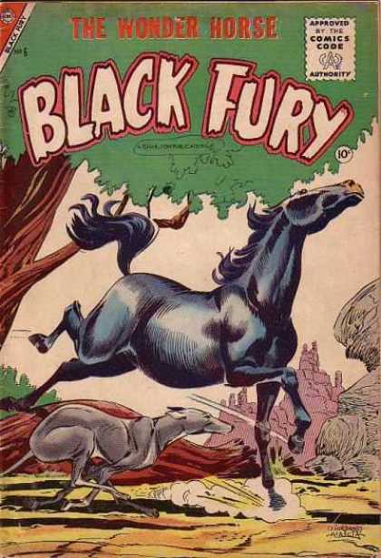 Black Fury 6 - Comics Code - The Wonder Horse - Tree - Dog - Mountain
