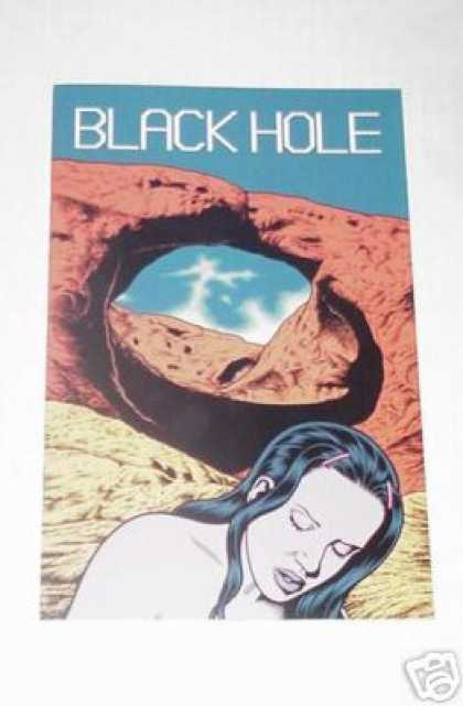 Black Hole 11 - Desert - Rocks - Girl - Shadow - Blue Sky