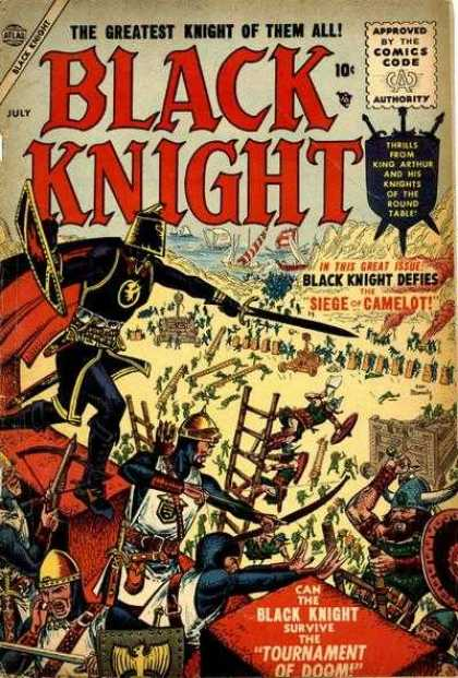 Black Knight 2 - Siege - Camelot - King Arthur - Round Table - Tournament Of Doom - Richard Buckler, Tony DeZuniga