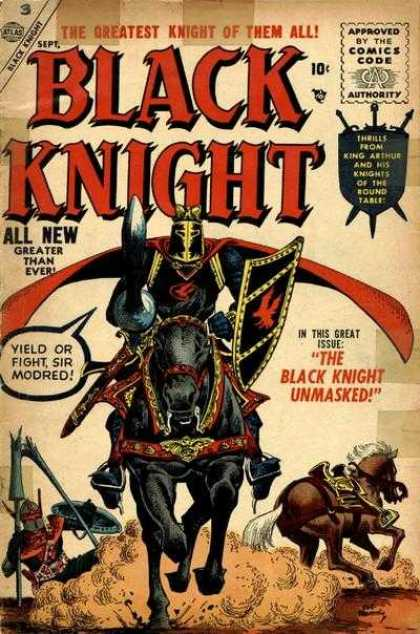 Black Knight 3 - Round Table - Thrills - Unmasked - Sir Modred - Fight - Richard Buckler, Tony DeZuniga