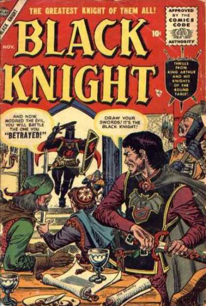 Black Knight 4 - Swords - Soldiers - Detrayed - Glass - Table - Richard Buckler, Tony DeZuniga