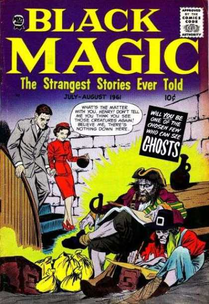 Black Magic 48 - Approved By The Comics Code - Authority - Woman - Fire - Ghost
