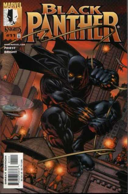 Black Panther (1998) 11 - Marvel Knights - Priest - Gun Fire - City Escape - Twilight