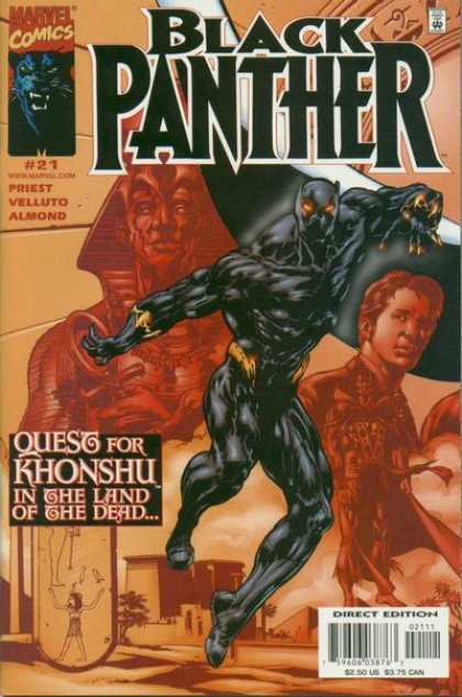 Black Panther (1998) 21 - Marvel - Quest For Khonshu - Priest - Velluto - Almond
