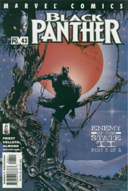 Black Panther (1998) 43 - Enemy Of The State - Moon - Cat Like - Tree - Marvel Pg
