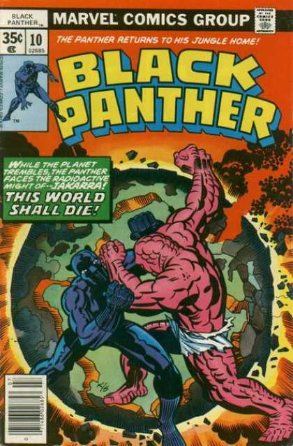 Black Panther 10 - Marvel - Fight - Smoke - Earth - Planet - Jack Kirby