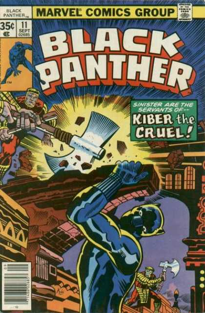 Black Panther 11 - Comics Code - Marvel - Axe - Kiber The Cruel - Battle - Jack Kirby, Joe Sinnott