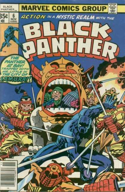 Black Panther 6 - The Panther At Bay - Trapped - Mr Little - Marvel Comics Group - Inside The Mask - Jack Kirby