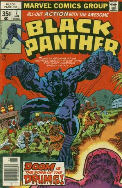 Black Panther 7 - Marvel Comics Group - Doom Is The Song Of The Drums - Tchalla - Insidious - January - Ernie Chan, Jack Kirby