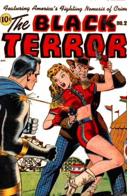 Black Terror 21 - Villain - Damsel In Distress - Bulletproof - Amusement Park - Ferris Wheel