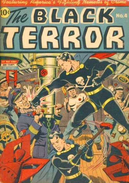 Black Terror 4 - Nazi - Periscope - Skull And Crossbones - Sailors - Ladder - Alex Ross, Alex Schomburg