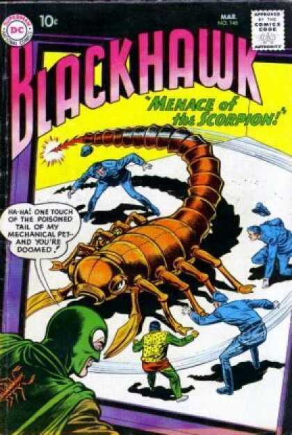 Blackhawk 146 - Scorpion - Menace Of The Scorpoin - Poisoned - Mechanical Pet - Tail