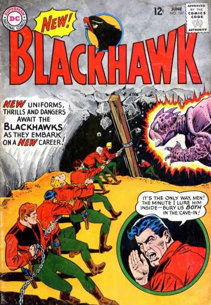 Blackhawk 197 - Dc - Superman - National Comics - Approved By The Comics Code Authority - Rope