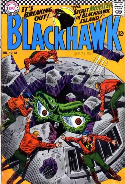 Blackhawk 226 - Secret Monster Of Blackhawk Island - No 226 - Escape - Humans Are Helpless - Monster Prison Destruction