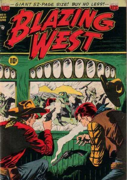 Blazing West 11 - Cap - Gun - Acg - Giant 52 Page Size - Buy No Less