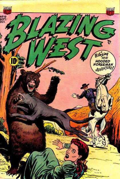 Blazing West 19 - Hooded Horseman - Bear Attack - Damsel In Distress - Cowboy - Wild West