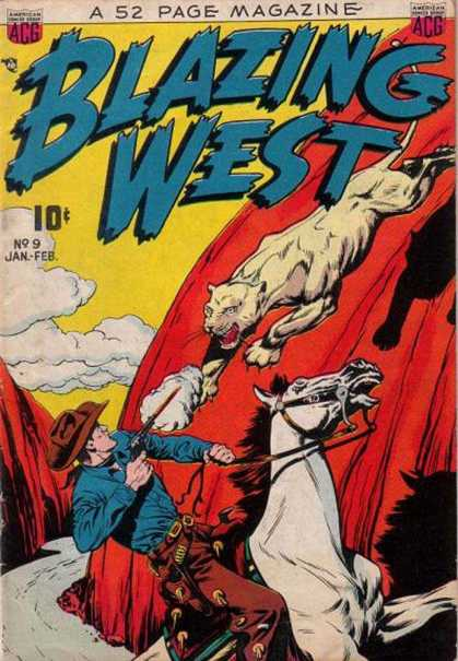 Blazing West 9 - Panther - Cowboy - Gunfire - Horse - Attacked