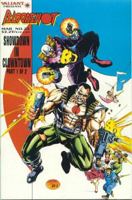 Bloodshot 25 - Clown - Showdown In Clownton - Guns - Clown Suit - Valiant - Michael Bair